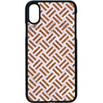 WOVEN2 WHITE MARBLE & RUSTED METAL (R) Apple iPhone X Seamless Case (Black) Front