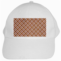 Woven2 White Marble & Rusted Metal White Cap