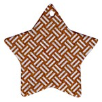 WOVEN2 WHITE MARBLE & RUSTED METAL Ornament (Star) Front