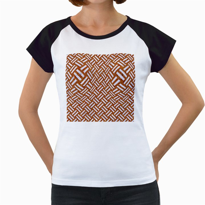 WOVEN2 WHITE MARBLE & RUSTED METAL Women s Cap Sleeve T