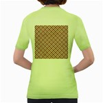WOVEN2 WHITE MARBLE & RUSTED METAL Women s Green T-Shirt Back