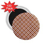 WOVEN2 WHITE MARBLE & RUSTED METAL 2.25  Magnets (100 pack)  Front