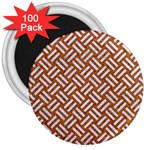 WOVEN2 WHITE MARBLE & RUSTED METAL 3  Magnets (100 pack) Front