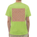 WOVEN2 WHITE MARBLE & RUSTED METAL Green T-Shirt Back