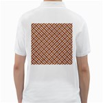 WOVEN2 WHITE MARBLE & RUSTED METAL Golf Shirts Back