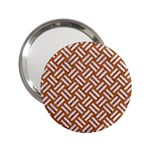 WOVEN2 WHITE MARBLE & RUSTED METAL 2.25  Handbag Mirrors Front