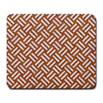 WOVEN2 WHITE MARBLE & RUSTED METAL Large Mousepads Front