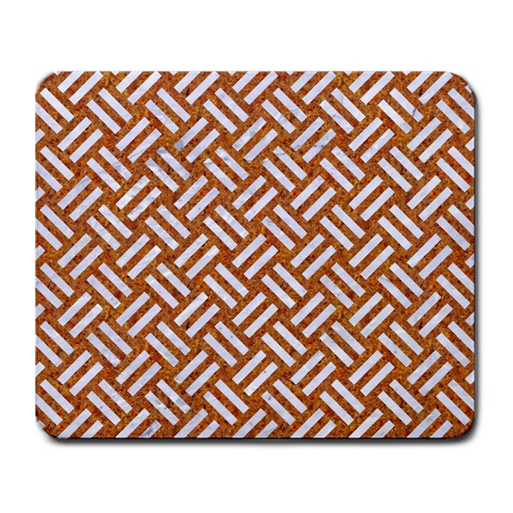 WOVEN2 WHITE MARBLE & RUSTED METAL Large Mousepads