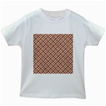 WOVEN2 WHITE MARBLE & RUSTED METAL Kids White T-Shirts Front