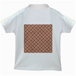WOVEN2 WHITE MARBLE & RUSTED METAL Kids White T-Shirts Back