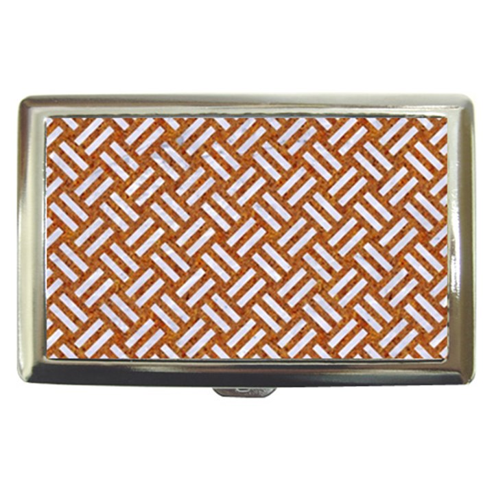 WOVEN2 WHITE MARBLE & RUSTED METAL Cigarette Money Cases