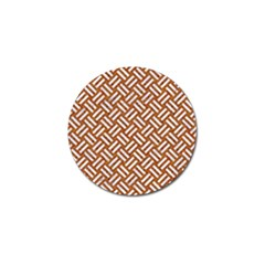 Woven2 White Marble & Rusted Metal Golf Ball Marker (4 Pack)