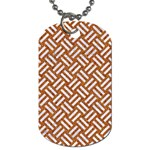 WOVEN2 WHITE MARBLE & RUSTED METAL Dog Tag (Two Sides) Back