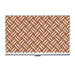 WOVEN2 WHITE MARBLE & RUSTED METAL Business Card Holders Front