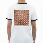 WOVEN2 WHITE MARBLE & RUSTED METAL Ringer T-Shirts Back
