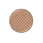WOVEN2 WHITE MARBLE & RUSTED METAL Hat Clip Ball Marker (4 pack) Front