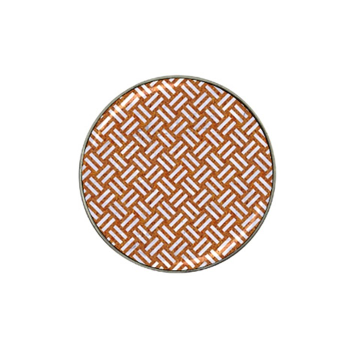 WOVEN2 WHITE MARBLE & RUSTED METAL Hat Clip Ball Marker (4 pack)