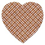 WOVEN2 WHITE MARBLE & RUSTED METAL Jigsaw Puzzle (Heart) Front