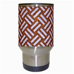 WOVEN2 WHITE MARBLE & RUSTED METAL Travel Mugs (White) Center
