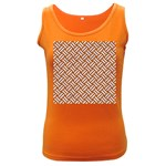 WOVEN2 WHITE MARBLE & RUSTED METAL Women s Dark Tank Top Front