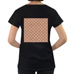 WOVEN2 WHITE MARBLE & RUSTED METAL Women s Loose-Fit T-Shirt (Black) Back