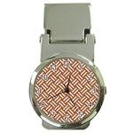 WOVEN2 WHITE MARBLE & RUSTED METAL Money Clip Watches Front