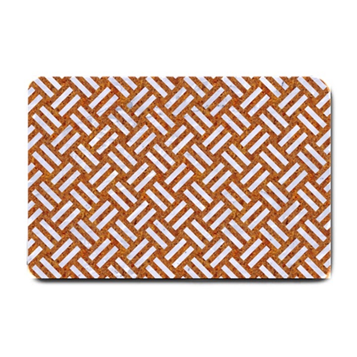 WOVEN2 WHITE MARBLE & RUSTED METAL Small Doormat