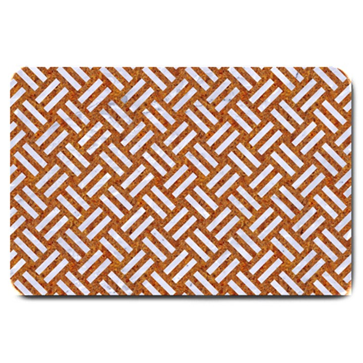 WOVEN2 WHITE MARBLE & RUSTED METAL Large Doormat
