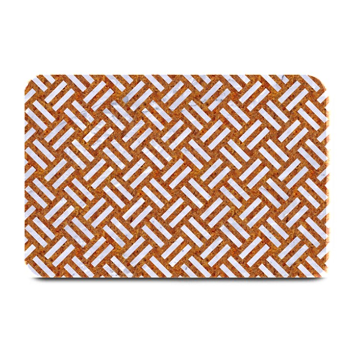 WOVEN2 WHITE MARBLE & RUSTED METAL Plate Mats