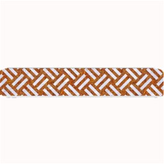 Woven2 White Marble & Rusted Metal Small Bar Mats