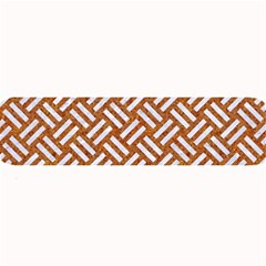 Woven2 White Marble & Rusted Metal Large Bar Mats