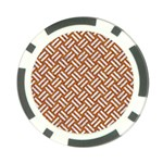 WOVEN2 WHITE MARBLE & RUSTED METAL Poker Chip Card Guard Back