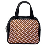 WOVEN2 WHITE MARBLE & RUSTED METAL Classic Handbags (2 Sides) Back
