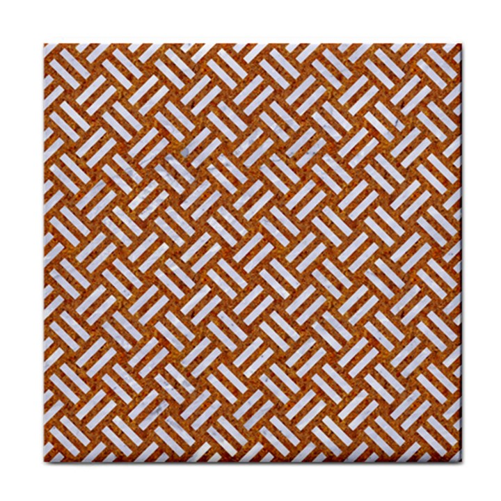 WOVEN2 WHITE MARBLE & RUSTED METAL Face Towel