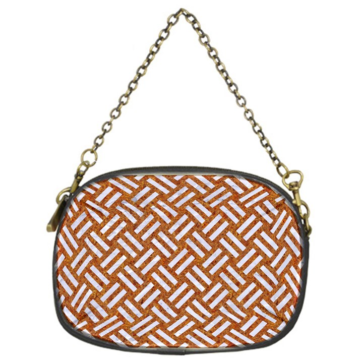 WOVEN2 WHITE MARBLE & RUSTED METAL Chain Purses (One Side)
