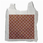 WOVEN2 WHITE MARBLE & RUSTED METAL Recycle Bag (Two Side)  Back
