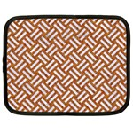 WOVEN2 WHITE MARBLE & RUSTED METAL Netbook Case (XXL)  Front
