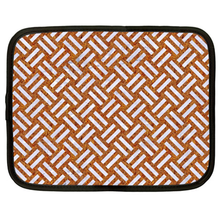 WOVEN2 WHITE MARBLE & RUSTED METAL Netbook Case (XXL)