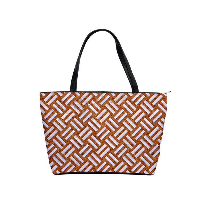 WOVEN2 WHITE MARBLE & RUSTED METAL Shoulder Handbags