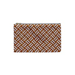 Woven2 White Marble & Rusted Metal Cosmetic Bag (small)