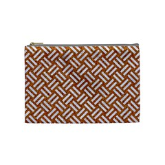 Woven2 White Marble & Rusted Metal Cosmetic Bag (medium)