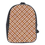 WOVEN2 WHITE MARBLE & RUSTED METAL School Bag (Large) Front