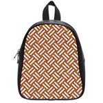 WOVEN2 WHITE MARBLE & RUSTED METAL School Bag (Small) Front