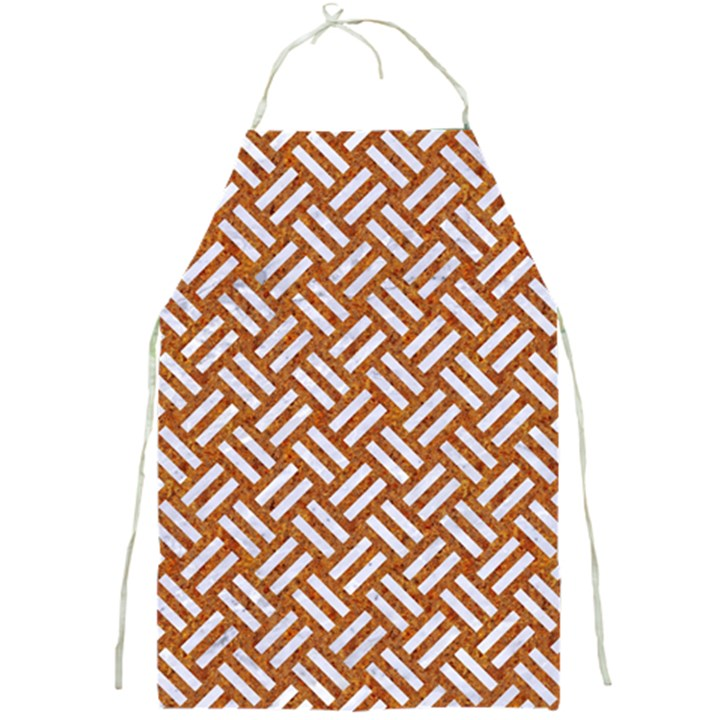 WOVEN2 WHITE MARBLE & RUSTED METAL Full Print Aprons
