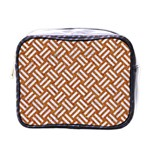 WOVEN2 WHITE MARBLE & RUSTED METAL Mini Toiletries Bags Front