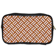 Woven2 White Marble & Rusted Metal Toiletries Bags 2 Side