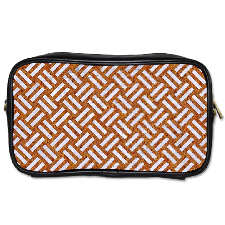 WOVEN2 WHITE MARBLE & RUSTED METAL Toiletries Bags 2-Side