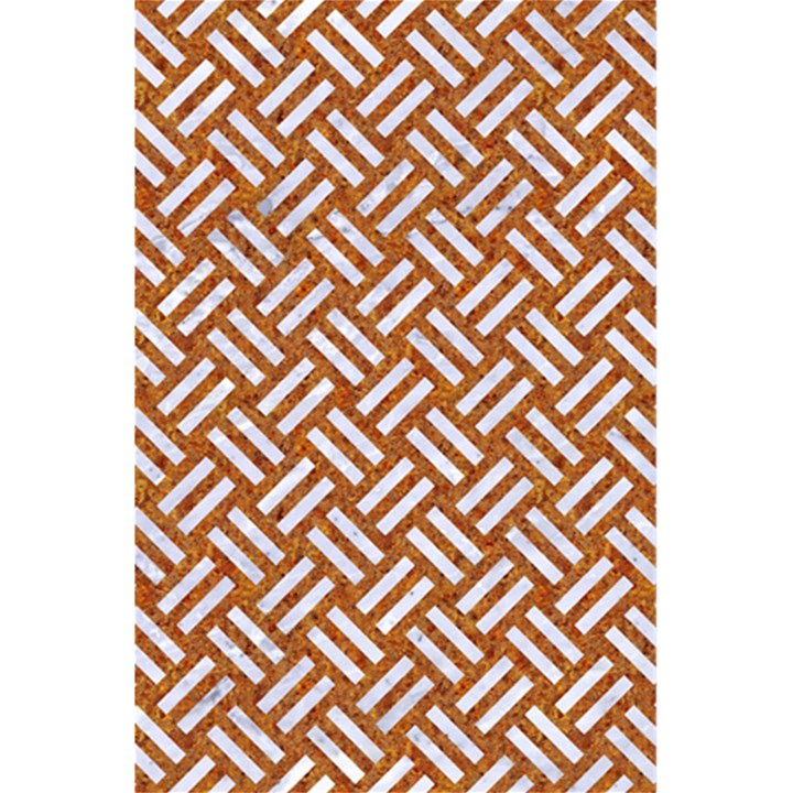 WOVEN2 WHITE MARBLE & RUSTED METAL 5.5  x 8.5  Notebooks