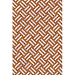 WOVEN2 WHITE MARBLE & RUSTED METAL 5.5  x 8.5  Notebooks Back Cover