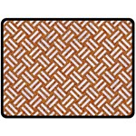 WOVEN2 WHITE MARBLE & RUSTED METAL Fleece Blanket (Large)  80 x60 Blanket Front